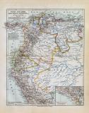 Peru Ecuador Kolumbien Venezuela historische Landkarte...