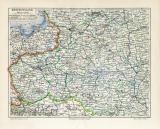 Westrussland historische Landkarte Lithographie ca. 1908