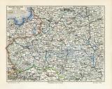 Westrussland historische Landkarte Lithographie ca. 1909