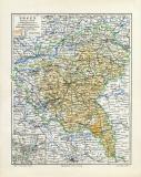 Posen historische Landkarte Lithographie ca. 1909