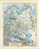 Europäisches Russland historische Landkarte...