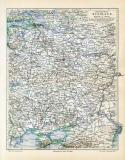 Mittleres Russland historische Landkarte Lithographie ca....