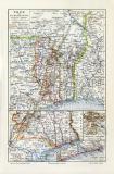 Togo historische Landkarte Lithographie ca. 1912
