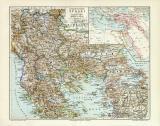 Europäische Türkei historische Landkarte...