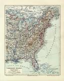 Wereinigte Staaten Östliches Blatt historische...