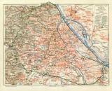 Wien Übersicht historischer Stadtplan Karte...
