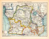Farbig lithographierte Landkarte von 1891 von...